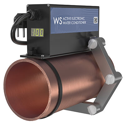 ferrite water conditioner WS-100 on the pipe