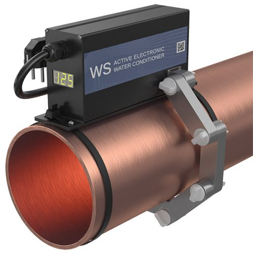 electronic descaler WS-125 inhibit limescale in the pipe